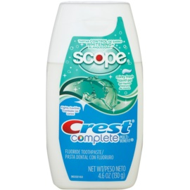 Crest Complete Scope Whitening+ Гел за зъби с избелващ ефект вкус Minty Fresh (Tartar Control) 130 гр.
