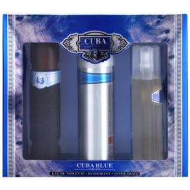 Cuba Blue darčeková sada II. toaletná voda 100 ml + voda po holení 100 ml + deodorant v spreji 200 ml