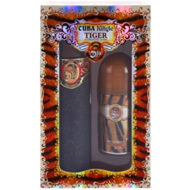 Cuba Jungle Tiger Gift Set II.  Eau De Toilette 100 ml + Roll-on Deodorant 50 ml