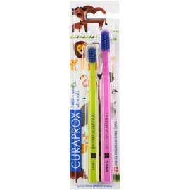 Curaprox 5460 Ultra Soft Animal Family Edition brosses à dents 2 pièces