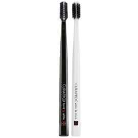 Curaprox Black is White Ultra Soft Toothbrushes 2 pcs Black & White (5460 Curen, Filaments 0,12 mm)