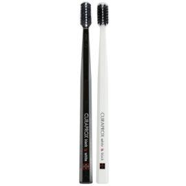 Curaprox Black is White zubní kartáčky ultra soft 2 ks Black & White (5460 Curen, Filaments 0,12 mm)