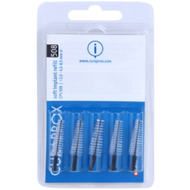 Curaprox Soft Implantat CPS escovas interdentais de reposição para implantes 5unid. CPS 508 2,0 - 4,5-8,5 mm
