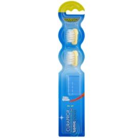 Curaprox Sonic Power nadomestne glave za sonično baterijsko zobno ščetko 2 ks Yellow