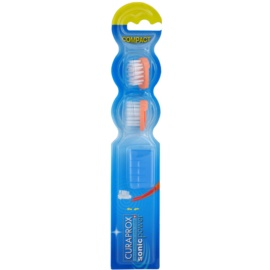 Curaprox Sonic Power głowica wymienna do sonicznej szczoteczki do zębów na baterie 2 szt. Orange
