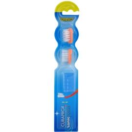 Curaprox Sonic Power náhradní hlavice pro sonický bateriový zubní kartáček 2 ks Orange