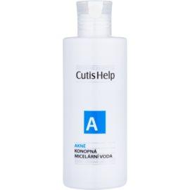 CutisHelp Health Care A - Akné konopná micelární voda 3 v 1 pro problematickou pleť, akné  200 ml