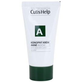 CutisHelp Health Care A - Acne Night Cream with Hemp For Problematic Skin, Acne  30 ml