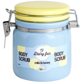 Dairy Fun Milk & Honey telový peeling  300 g