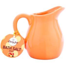 Dairy Fun Peach koupelová sůl v džbánku  500 g