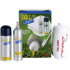 Dana Golf Sport Geschenkset I. Eau de Toilette 200 ml + Deo-Spray 200 ml + Handtuch 48,5 x 77 cm