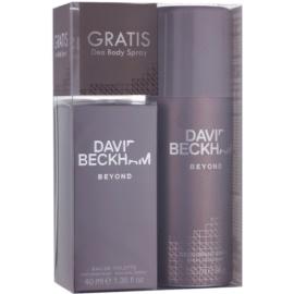 David Beckham Beyond lote de regalo I.  eau de toilette 40 ml + desodorante en spray 150 ml