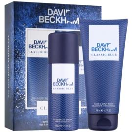 David Beckham Classic Blue ajándékszett I. dezodor szpré 150 ml + tusfürdő gél 200 ml