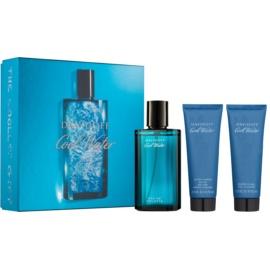 Davidoff Cool Water ajándékszett V.  Eau de Toilette 125 ml + borotválkozás utáni balzsam 75 ml + tusfürdő gél 75 ml