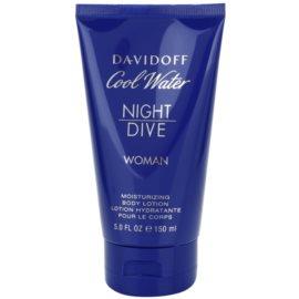 Davidoff Cool Water Woman Night Dive tělové mléko pro ženy 150 ml