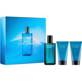 Davidoff Cool Water ajándékszett I.  Eau de Toilette 75 ml + tusfürdő gél 50 ml + borotválkozás utáni balzsam 50 ml