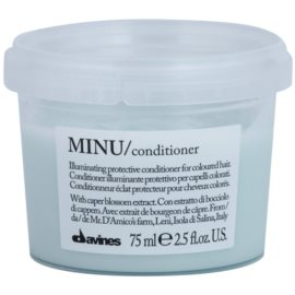 Davines Minu Caper Blossom condicionador de proteção para cabelo pintado  75 ml