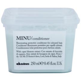 Davines Minu Caper Blossom condicionador de proteção para cabelo pintado  250 ml