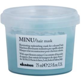 Davines Minu Caper Blossom obnovující maska pro barvené vlasy  75 ml