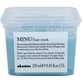Davines Minu Caper Blossom maseczka regenerująca do włosów farbowanych  250 ml