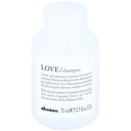 Davines Love Almond sampon hullámos hajra  75 ml