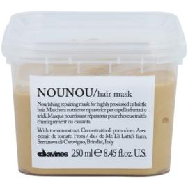 Davines NouNou Tomato máscara nutritiva para cabelos danificados e quimicamente tratados  250 ml