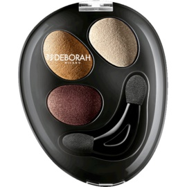Deborah Milano HI-TECH Ombretto Trio Eyeshadow Trio for Eet and Dry Use Shade 02 Goddess Bronze