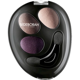 Deborah Milano HI-TECH Ombretto Trio Eyeshadow Trio for Eet and Dry Use Shade 05 Purple Deluxe