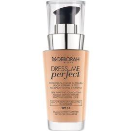 Deborah Milano Dress Me Perfect maquillaje para un aspecto natural SPF 15 tono 02 Beige 30 ml