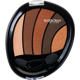 Deborah Milano Perfect Smokey Eye senčila za oči z aplikatorjem odtenek 01 Bronze 5 g