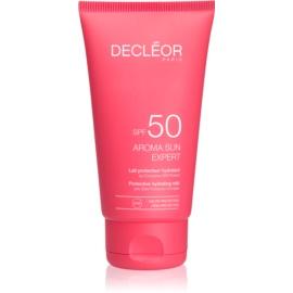 Decléor Aroma Sun Expert creme bronzeador para rosto com efeito antirrugas SPF50  50 ml