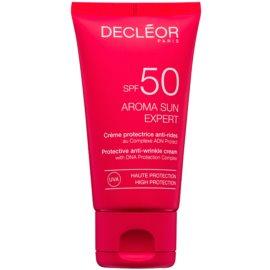 Decléor Aroma Sun Expert Zonnebrandcrème voor Gezicht met Anti-Rimpel Werking  SPF 50  50 ml