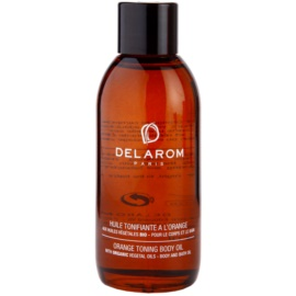 Delarom Body Care тониращо олио за тяло с портокал  100 мл.