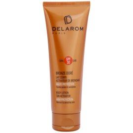 Delarom Bronze Doré lait corporel protecteur activateur de bronzage SPF30  125 ml