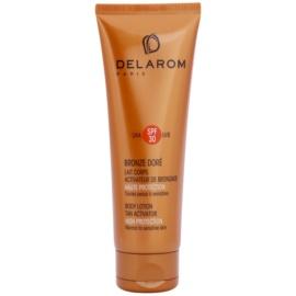 Delarom Bronze Doré προστατευτικό γάλα σώματος με ενεργοποιητή μαυρίσματος SPF 30  125 μλ