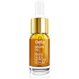 Delia Cosmetics Professional Face Care Argan Oil sérum intensivo regenerador e rejuvenescedor com ácido hialurónico para rosto, pescoço e decote  10 ml