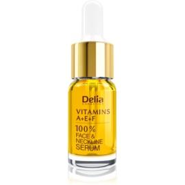 Delia Cosmetics Professional Face Care Vitamins A+E+F sérum anti-rides visage et décolleté  10 ml