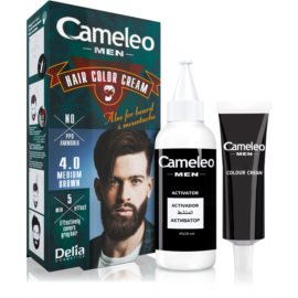 Delia Cosmetics Cameleo Men Hair Color Shade 4.0 Medium Brown 30 ml