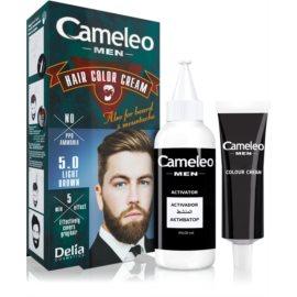 Delia Cosmetics Cameleo Men боя за коса цвят 5.0 Light Brown 30 мл.
