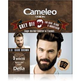 Delia Cosmetics Cameleo Men éénmalige kleur voor direct verbergen van grijs haar Tint  3.0 Dark Brown 2 x 15 ml