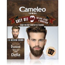 Delia Cosmetics Cameleo Men éénmalige kleur voor direct verbergen van grijs haar Tint  4.0 Medium Brown 2 x 15 ml