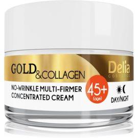 Delia Cosmetics Gold & Collagen 45+ učvrstitvena krema proti gubam  50 ml