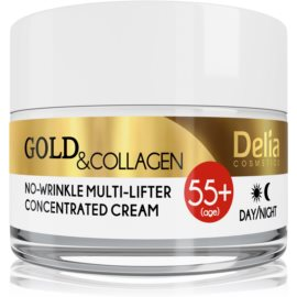 Delia Cosmetics Gold & Collagen 55+ Anti-Wrinkle Cream with Lifting Effect  50 ml