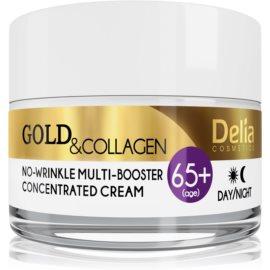 Delia Cosmetics Gold & Collagen 65+ protivráskový krém s regeneračním účinkem  50 ml