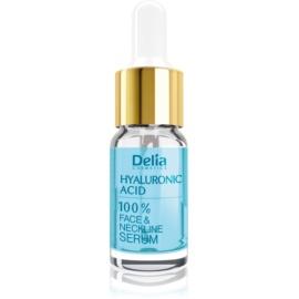 Delia Cosmetics Professional Face Care Hyaluronic Acid intensywne serum wypełniające zmarszczki z kwasem hialuronowym do twarzy, szyi i dekoltu  10 ml