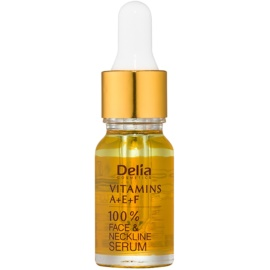 Delia Cosmetics Professional Face Care Vitamins A+E+F Anti-Wrinkle Serum For Face And Décolleté  10 ml