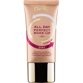 Delia Cosmetics All Day Perfect make up 3 in 1 culoare 01 Warm Beige 30 ml