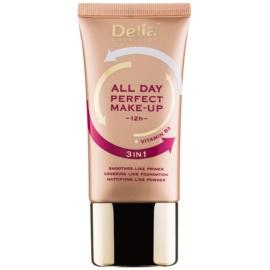 Delia Cosmetics All Day Perfect make up 3 in 1 culoare 02 Sand Beige 30 ml