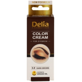 Delia Cosmetics Argan Oil фарба для брів відтінок 3.0 Dark Brown 15 мл