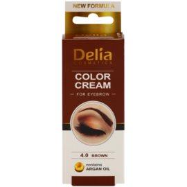 Delia Cosmetics Argan Oil фарба для брів відтінок 4.0 Brown 15 мл